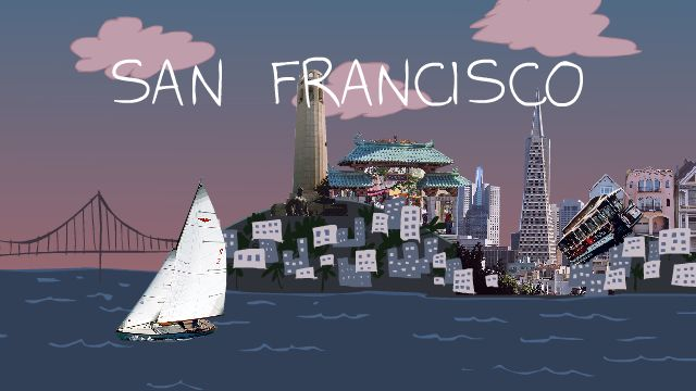 San Francisco Collage from 'Sita Sings the Blues'