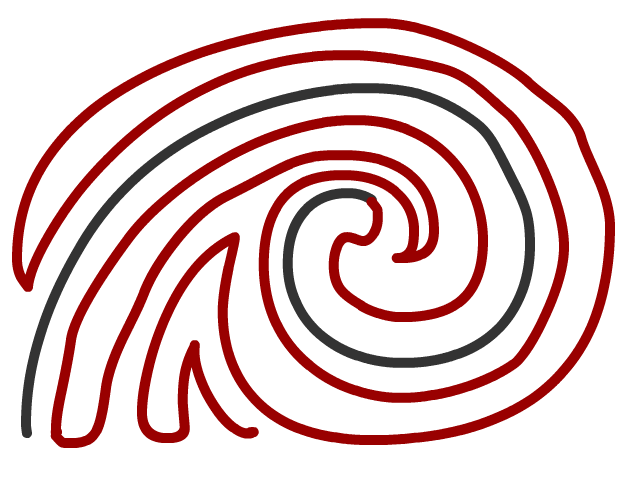 spiral in continued