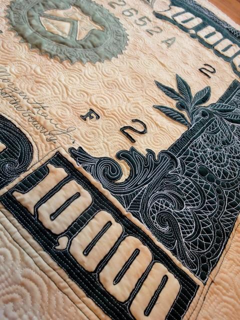 $10,000 quilt detail 5