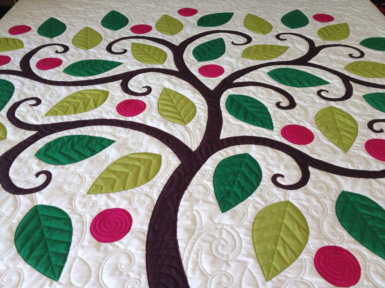 Quilting Pattern Shapes : Tree Applique Quilt Nina Paley s Blog