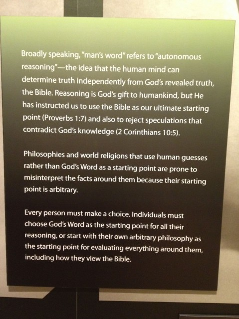 Science is arbitrary, unlike the BIBLE.