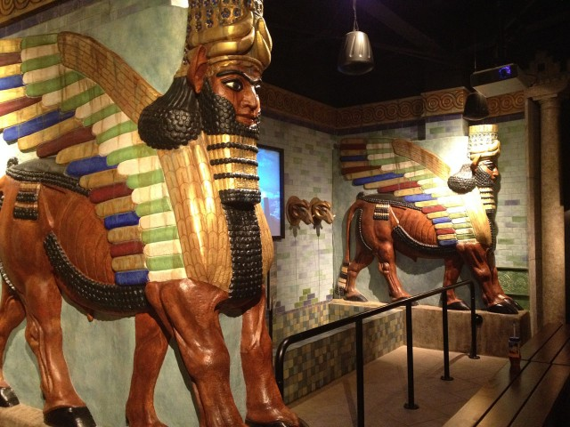 Fake Assyria was cool! Very Las Vegas. Pay craftspeople and designers and they'll make anything for anyone.