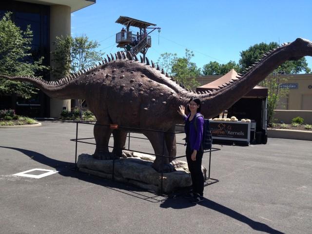 Big ol' bible dinosaur at the entrance