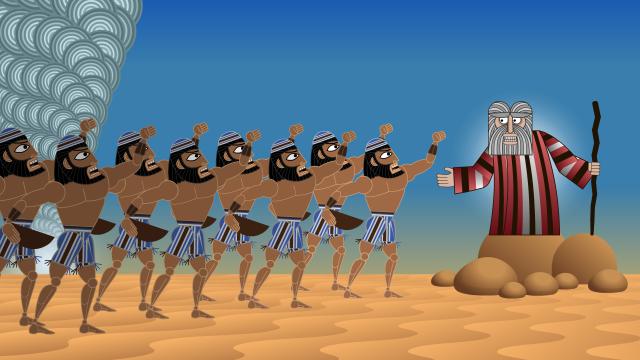 Hebrews murmur against Moses