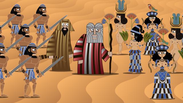 Hebrews behind Moses2