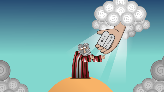 Moses receives tablets