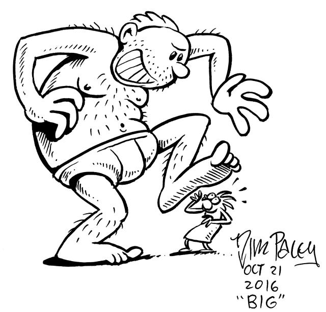 """""""Big"""" cleaned up. in GIMP, sans scanner."""