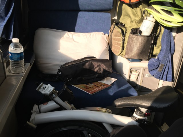 2 days later, my Brompton and I were on the train back to Illinois.