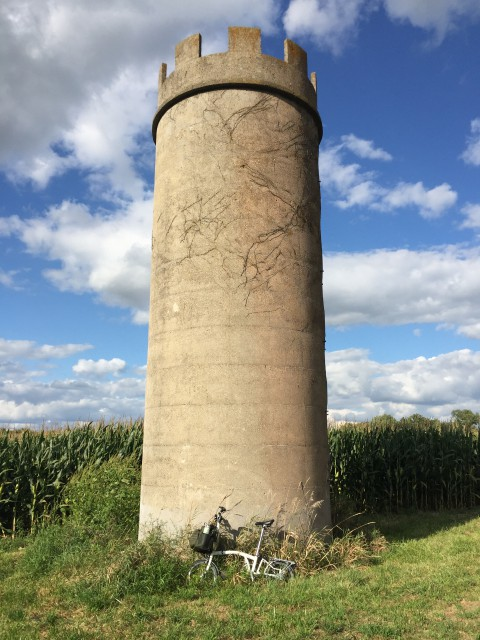 The mysterious Tower on Old Waynetown Road.
