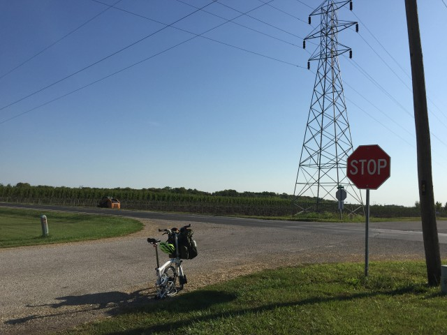 First back-stretch stop, just north-east of Urbana IL.
