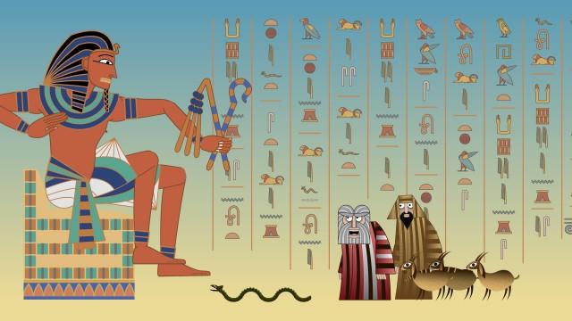 Pharaoh Moses Aharon Snake